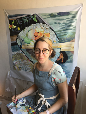 Myself & the Kimbop Painting