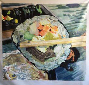Large Beef Kimbop Painting