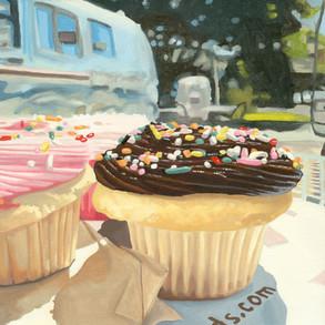 Hey Cupcake Oil Painting