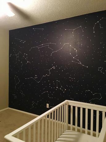 Nursery Constellation Mural