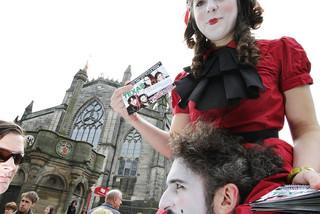 PGraph flyering at the Edinburgh Fringe Fest