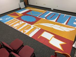 Large 20 ft Custom Painted Banner Mural
