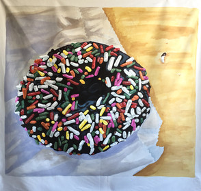 Chocolate Donut with Sprinkles Painting (Large)