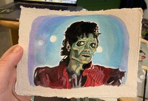 Thriller - Gouache on Paper