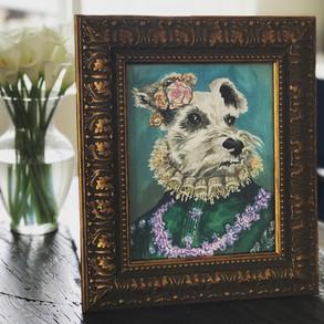 Sweet Pup Gouache Commission