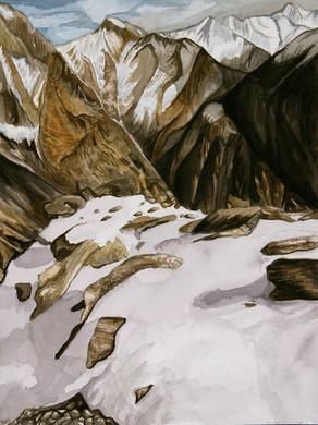 Utah Mountain Pass Watercolor 1