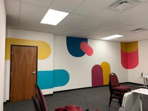 Colorful Teaching Studio Mural