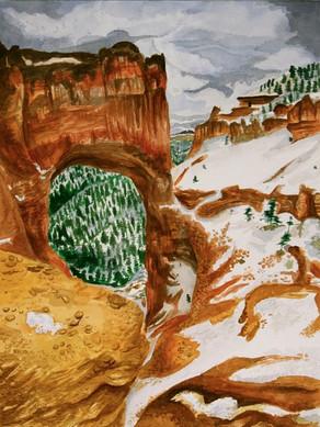 Utah Mountain Pass Watercolor 2