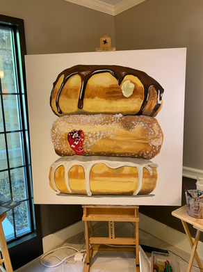 Live Painting of Donut Stack (Completed in 3 hours for an event)