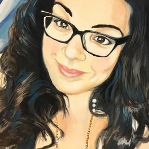 Amanda Gouache Portrait