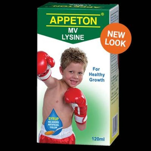 Appeton syrup with lysine