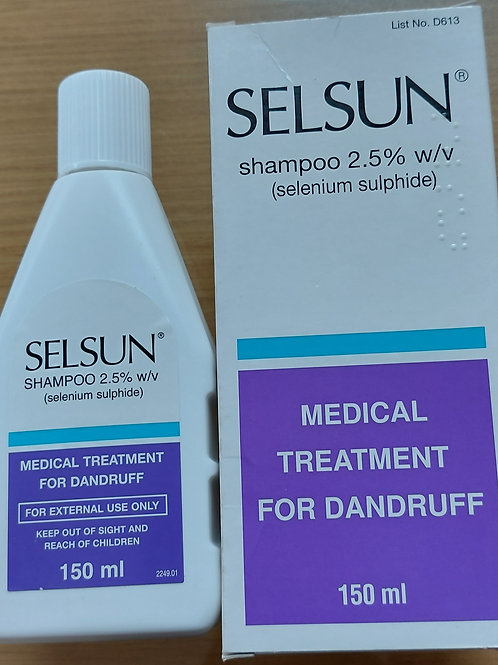 Selsun shampoo 2.5%