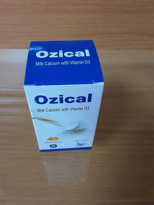 Ozical-Milk Calcium with Vit D 600mg/50IU-Chewable