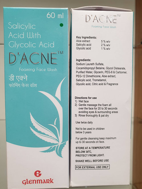 D'acne forming face wash