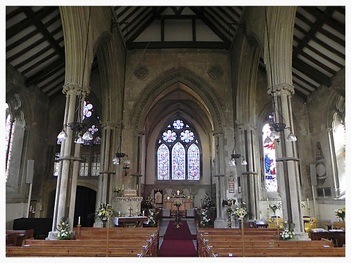 Nave and chancel at St Mary's
