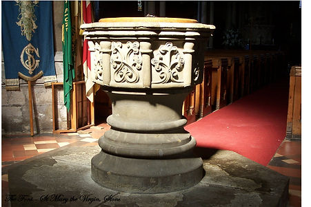 Font in St Mary the Virgin church, Stone