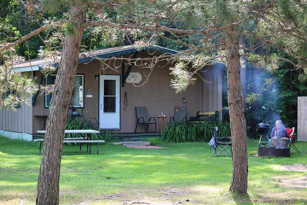 Cabin 1 beautifully shaded