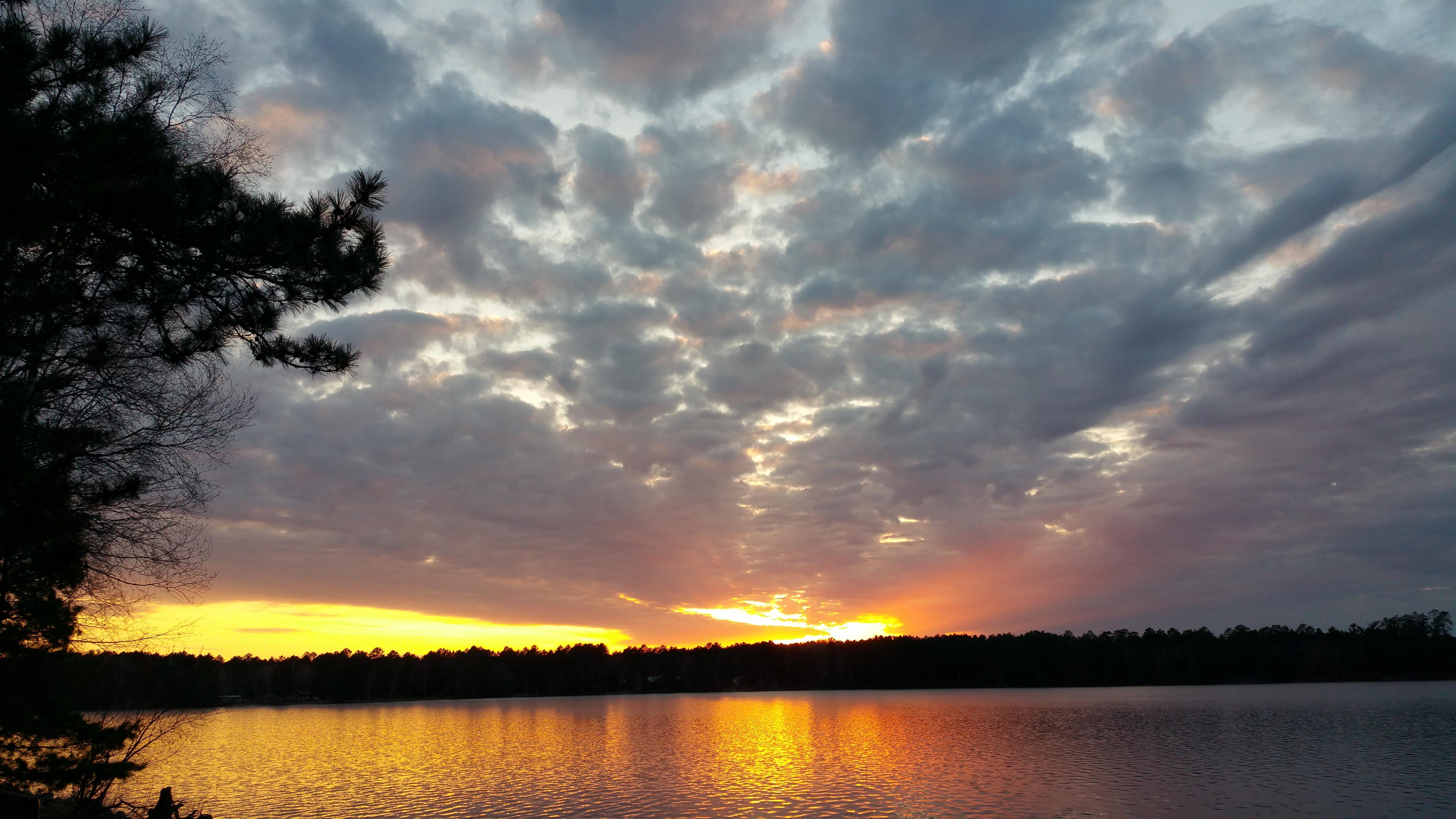 Sunset views Cabin 5 deck