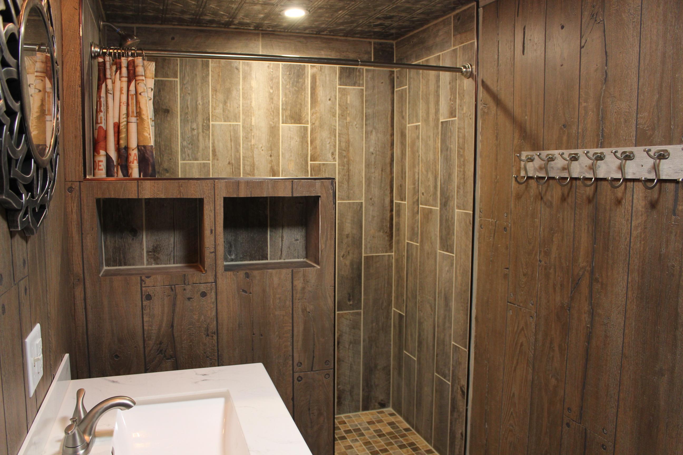 Cabin 1 walk-in shower