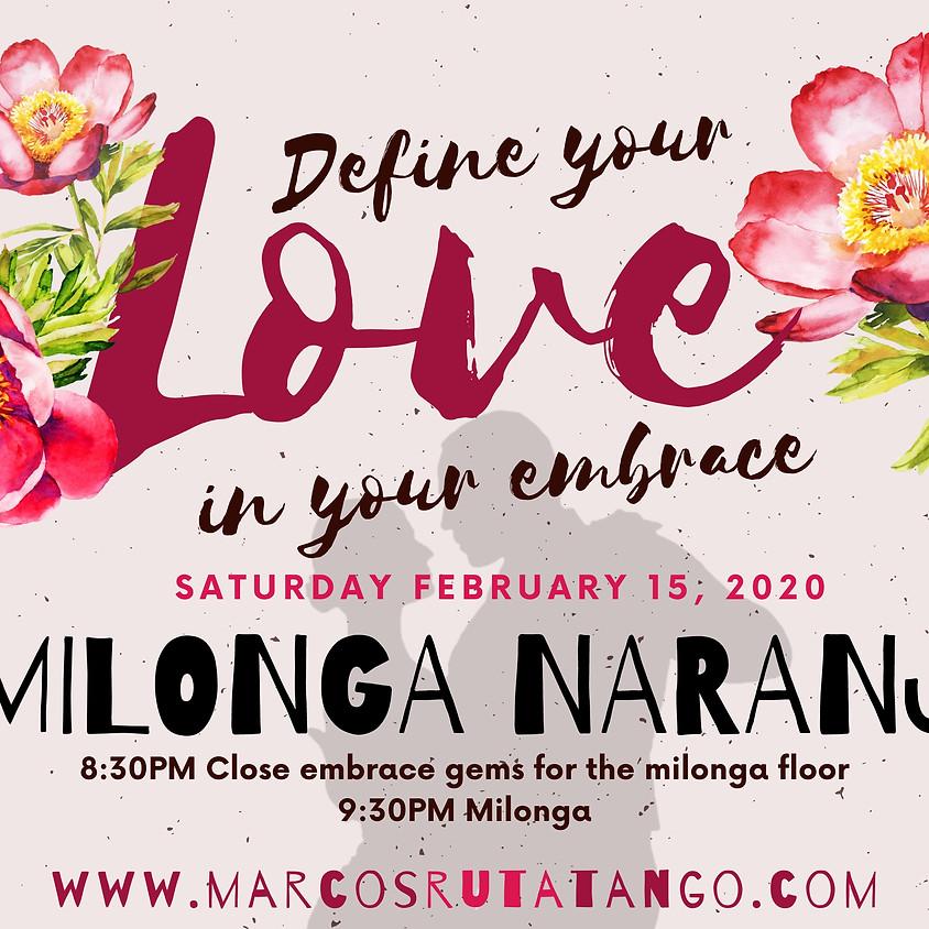 Milonga Naranja Feb 2020 - Define Your Love