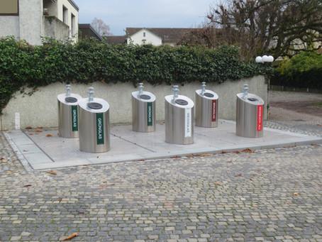 Eine neue Unterflur - Sammelstelle in Bad Zurzach AG ist in Betrieb
