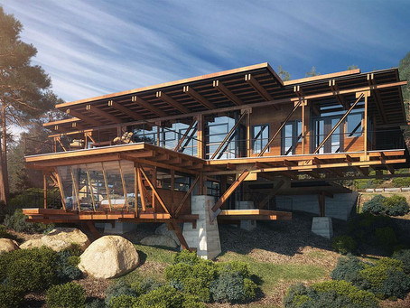 Innovations involving wood use in architecture.