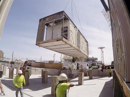 Modular construction to boom