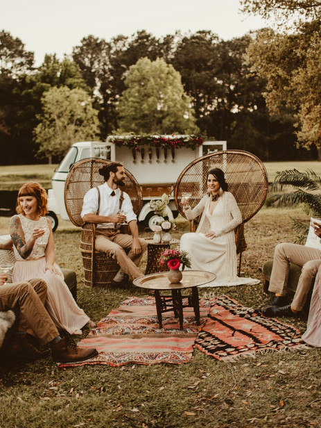 Romantic Indie Wedding Inspiration with Chug-a-Lug Wagon