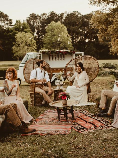 Romantic Indie Wedding Inspiration with Chug-a-Lug Wagon