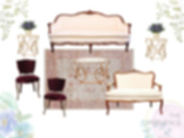 The Provence Lounge - Vintag Furniture Rentls Charlestn SC