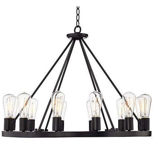"Iron Edison Chandelier (24"")"