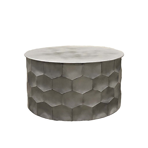 SILVER BACK Coffee Drum Table
