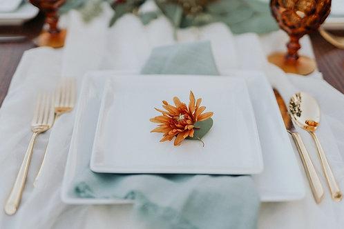 Square Porcelain Dinner/Salad Plate