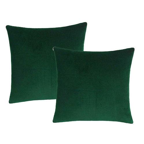 Hunter Green Velvet Pillows
