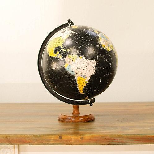 Vintage Black Globe