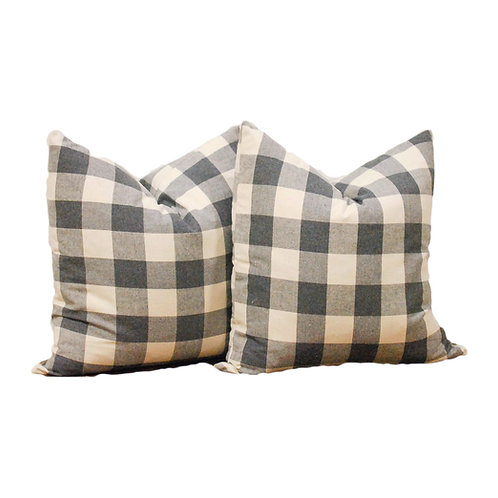 GREY GINGHAM Pillows