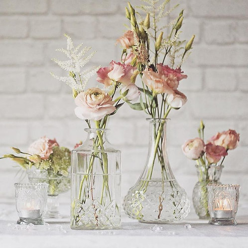 Clear Glass Vase Collection