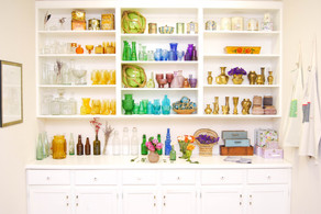 Colored glass collection_French Eclectic warehouse