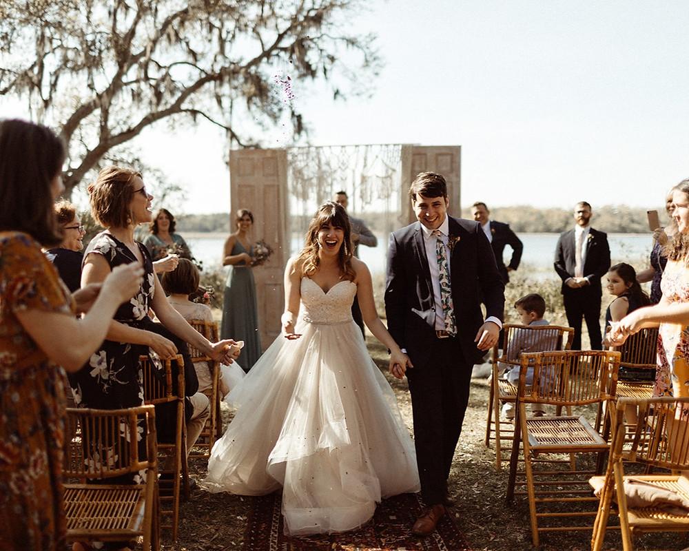 Indie Backyard Wedding Edisto Island