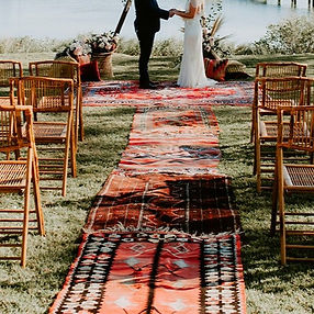 Boho Wedding Rug Aisle_The French Eclect