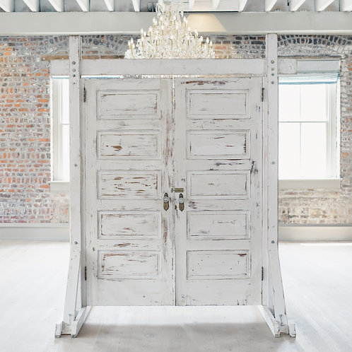 White Distressed Doorway