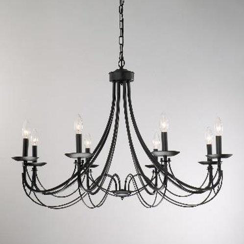 "Iron Candlelight Chandelier (36"")"