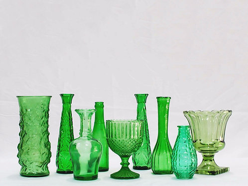 Green Glass Vessels