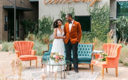 Colorful Wedding Lounge_Charleston_The F