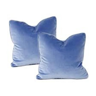 Powder Blue Velvet Pillows