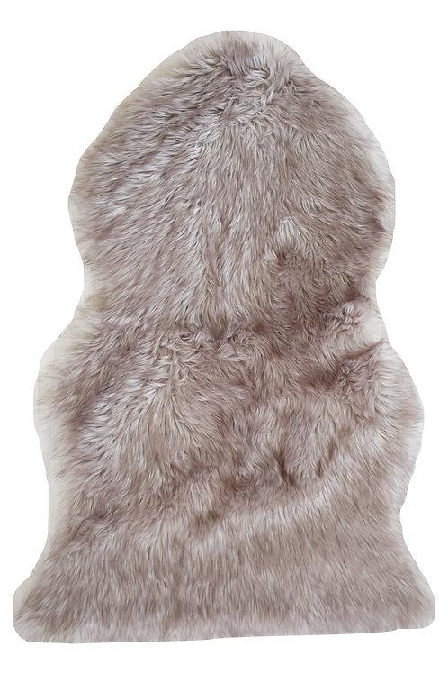 Taupe Fur Throw Rug
