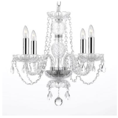 Crystal Chandelier (4 Arm)