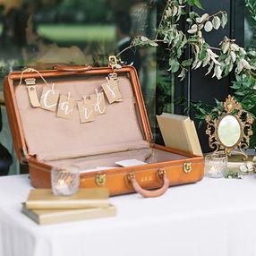 Vintage suitcase props decor