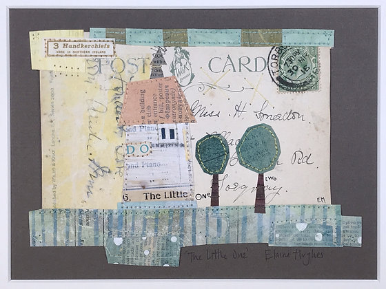 The Little One - Altered Postcard