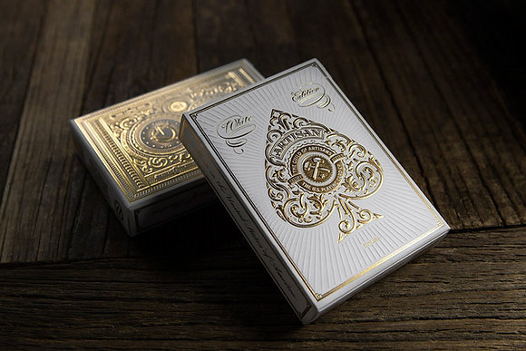 White Artisan Playing Cards | Theory 11